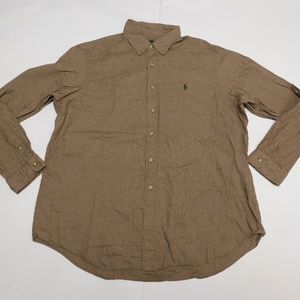 Ralph Lauren 2XL Brown Button Down Shirt  Cotton